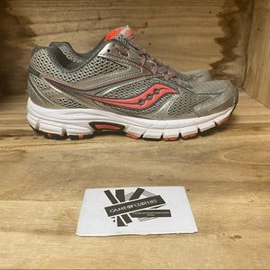 Saucony Energy silver pink trail running shoes